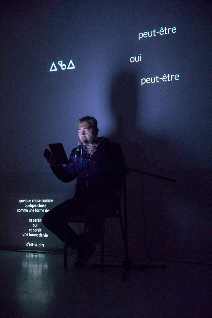 performance frédéric dumond et Guillaume Laidain ESAD 5 avril 2017 photo Mathieu Harel Vivier1
