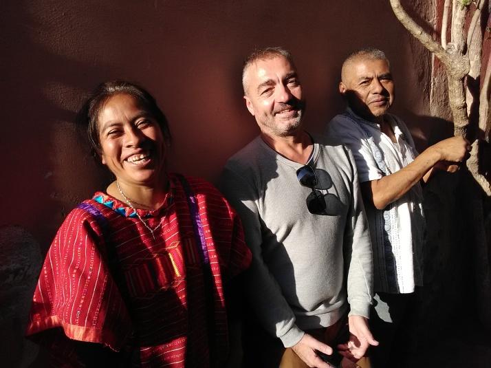 avec Prudencio y Teresa, Triqui communidad, Queretaro