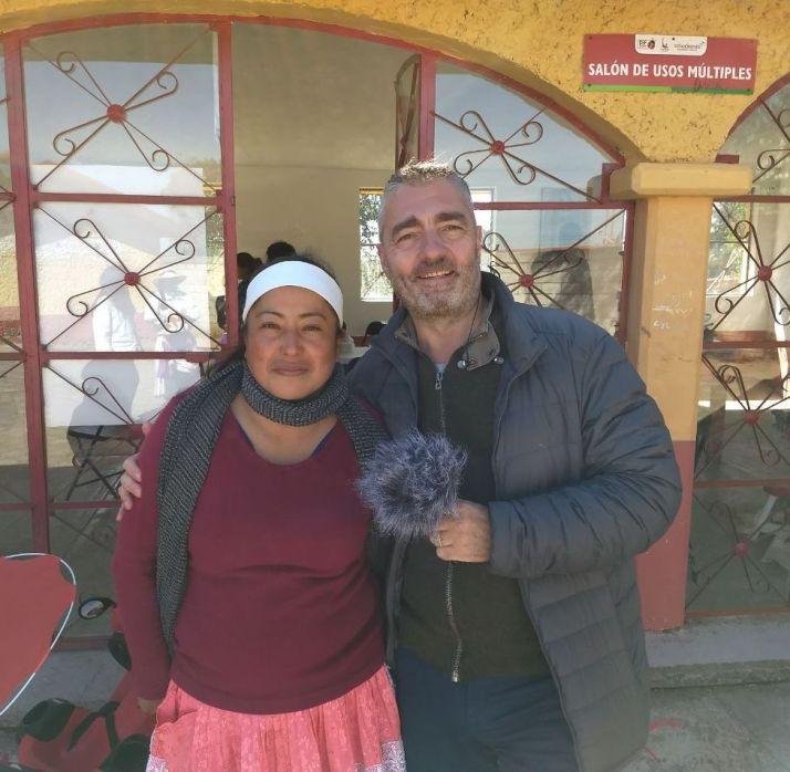 con Guadalupe a amealco
